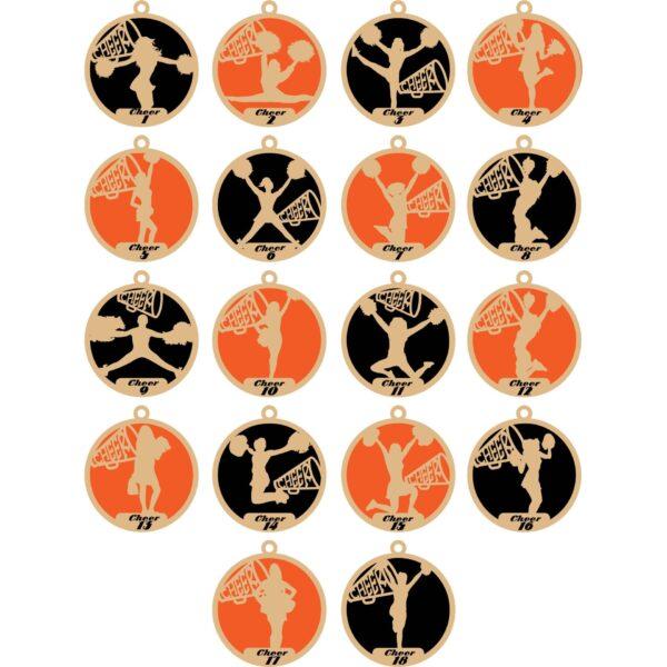 Personalized Cheer Ornaments – Barnegat Jr. Bengals