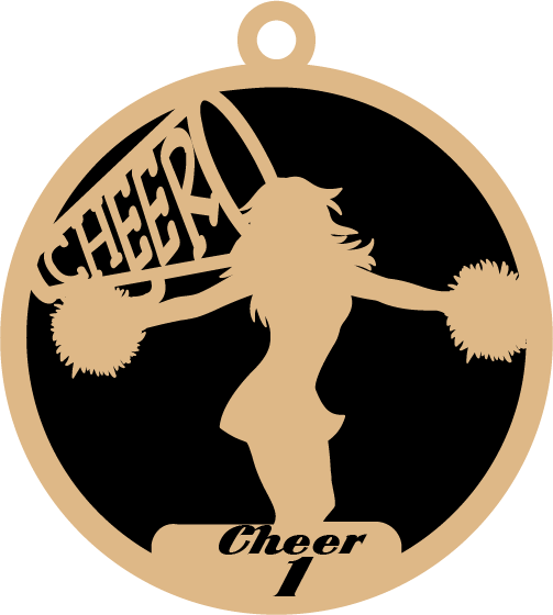 Personalized Cheer Ornaments
