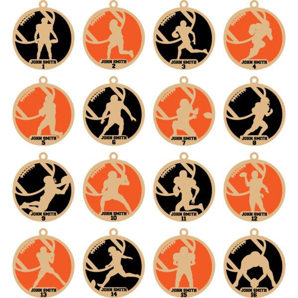 Personalized Football Ornaments – Barnegat Jr. Bengals
